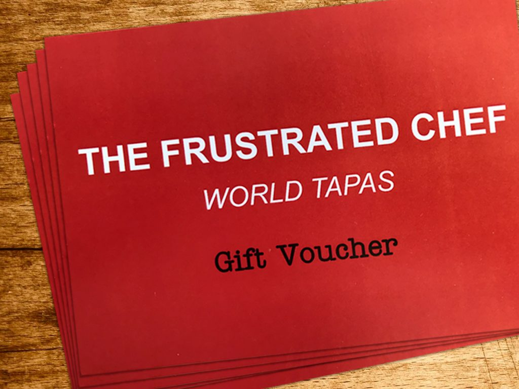 Tapas in Nottingham, Beeston, The Frustrated Chef gift vouchers